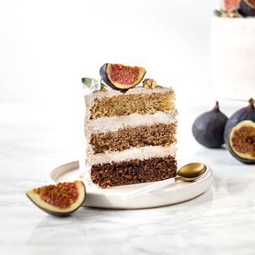 Banános ombré-torta fahéjas krémmel