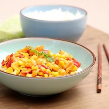 Vegetariánske karí s ryžou
